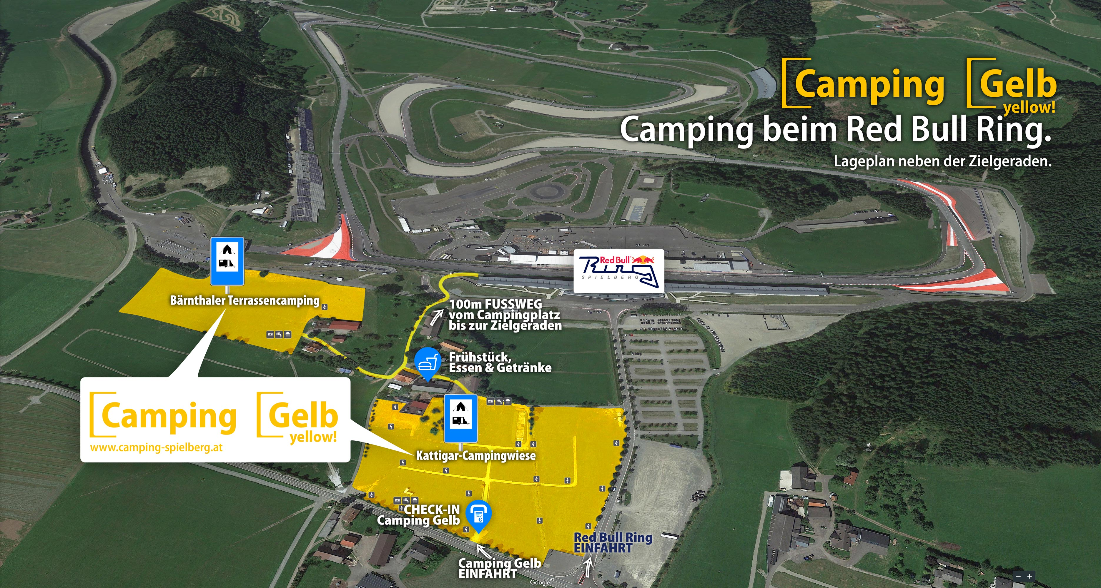 Aerial-View-Camping-Yellow-at-Red-Bull-Ring